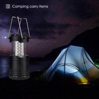 Portable Outdoors Lantern For Camping 30 LED Camping Light For Fishing Foldable Tourist Tent Lamp Fishing