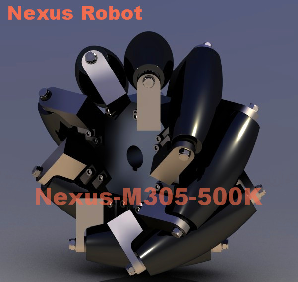 12 Inch Heavy Duty Mecanum Wheel Nexus-M305-500K( Load Capacity:500kg/pcs) 500kg heavy load 4 inch casters 360 degree caster carrying wheel universal castor double bearing nylon trolley wheels