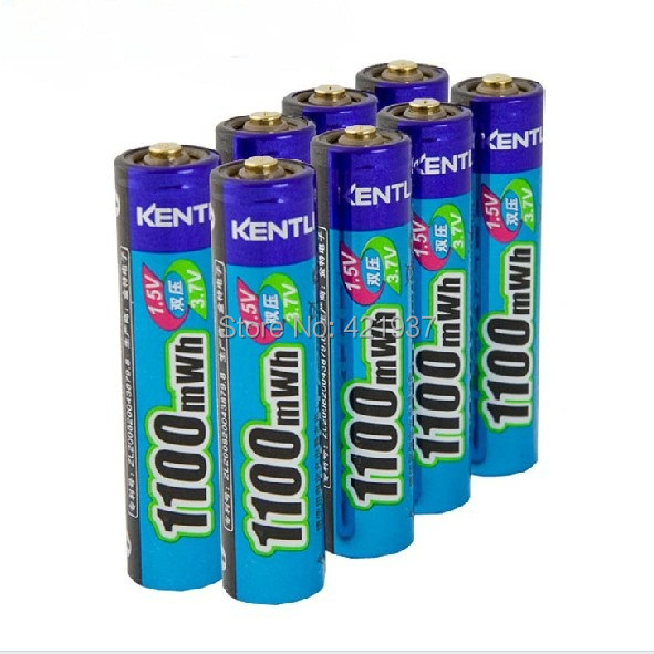 Free shipping 8pcs KENTLI AAA lithium Battery1.5V 1100mWh Lithium ion polymer AAA Rechargeble Battery Stable voltage AAA Battery