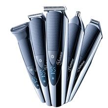 Surker 5 в 1 электрическая машинка для стрижки волос, IPX5 Водонепроницаемый Для мужчин стрижка машина Профессиональная парикмахерская Перезаряжаемые машинка для стрижки волос SK-0068