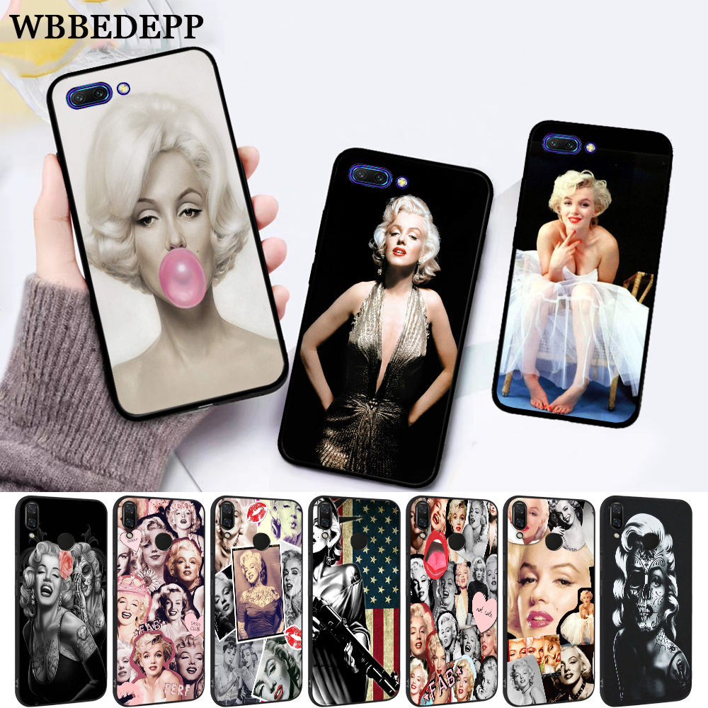 WEBBEDEPP Marilyn Monroe Silicone Case for Huawei honor 6A 7A Pro 7X 8 Lite 8X 8C 9 9X Note 10 View 20 in Fitted Cases from Cellphones Telecommunications