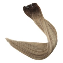 цена на Full Shine Balayage Color #3/8/613 Hair Weft 100g Hair Weave Sew in Ribbon Hair 100% Remy Human Hair Extensions Hair Bundles