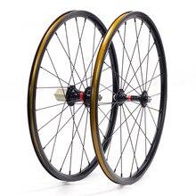 """Silverock Mini ruedas de aleación NBR, llanta de aleación de 20 """", 451, 406, 100mm, pinza de freno V, rueda reclinada plegable para Minivelo, 74m, 130mm, 135mm"""