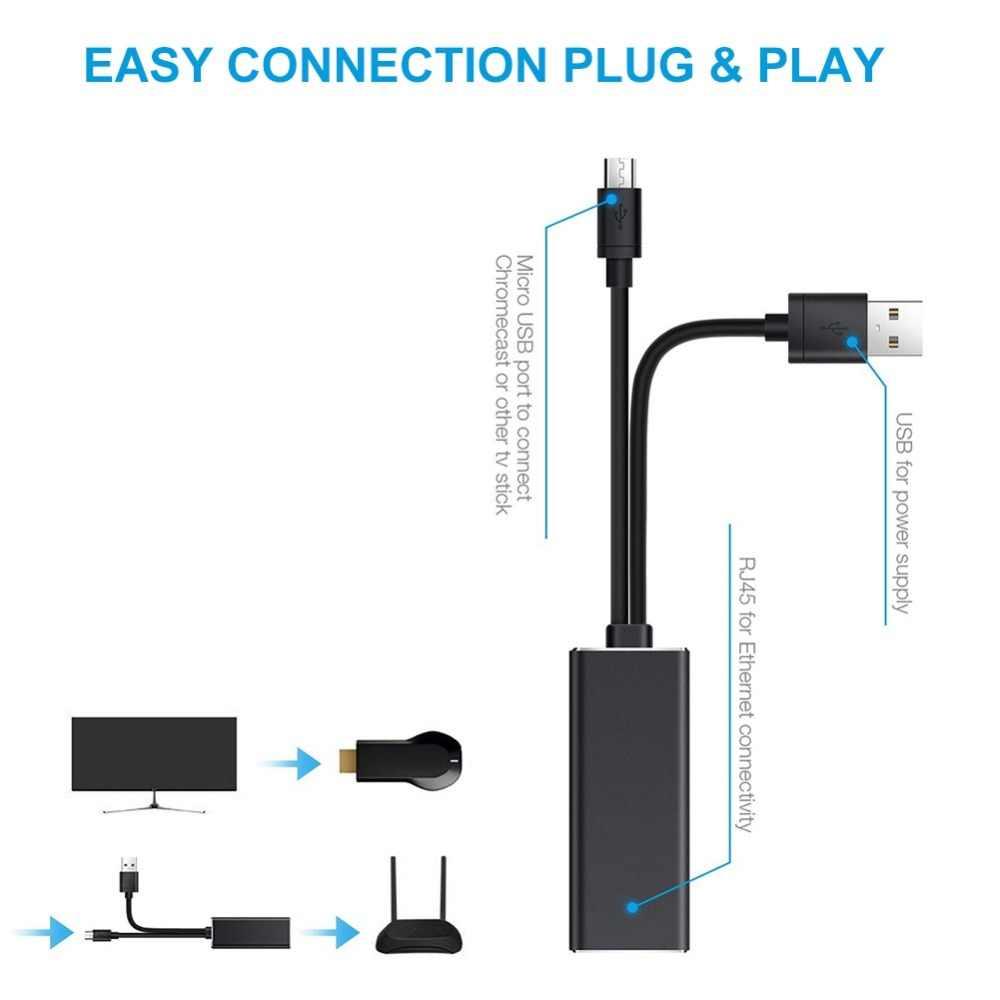 10/100mbps شبكة كيت ميركو USB RJ45 إيثرنت محول جهاز استقبال للتليفزيون ل النار ل Chromecast لجوجل المنزل جهاز استقبال للتليفزيون
