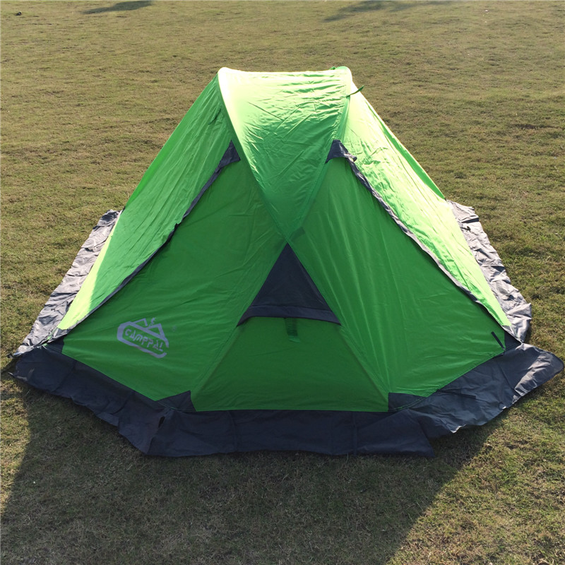 Hiking Camping Ultralight Tent 1 Person Aluminum Double layers Outdoor Winter Tents with Skirt Single Tourist Tent outdoor camping hiking automatic camping tent 4person double layer family tent sun shelter gazebo beach tent awning tourist tent