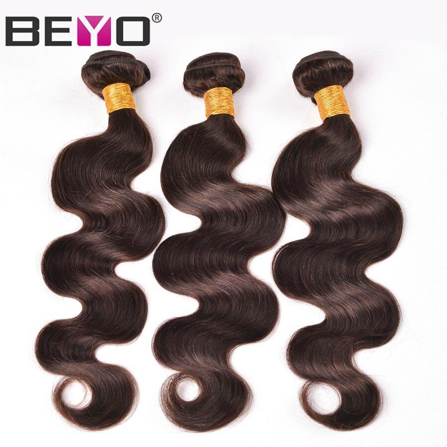 Brésilienne Corps Vague 3 Bundles Offre #2 Brun Foncé 100% Humains Faisceaux D'armure de cheveux Non Remy Cheveux Extensions Livraison Gratuite Beyo Cheveux