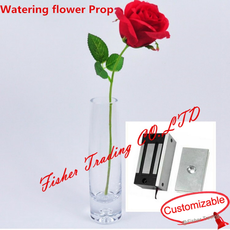 Reality Room Escape Prop, Amazing Water Props For Real Life Room Escape, Watering Flower To Open The Lock In Mysterious Room