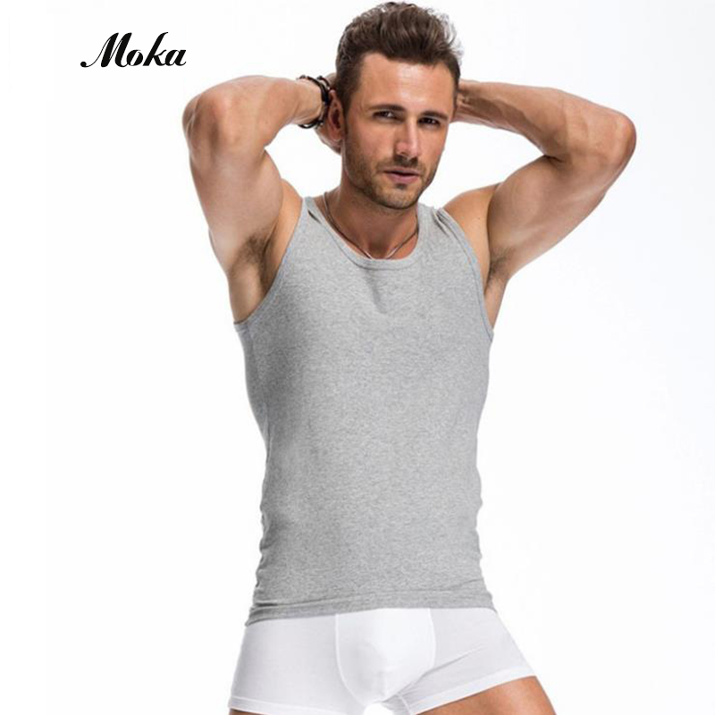 Mens Undershirt Modal Mans Solid Color Black Undershirt Waistcoat Underwear Clothing O-neck Sleeve Relax Strench Underpants
