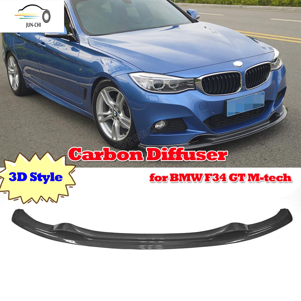 Carbon Fiber Car Front Lip Spoiler For BMW 3 Series GT F34