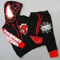 2016 Summer New Boys Spiderman Sports suit shirt+Pant 2 pcs/set Tracksuits Kids Clothing sets Casual Baby Short-sleeved suit
