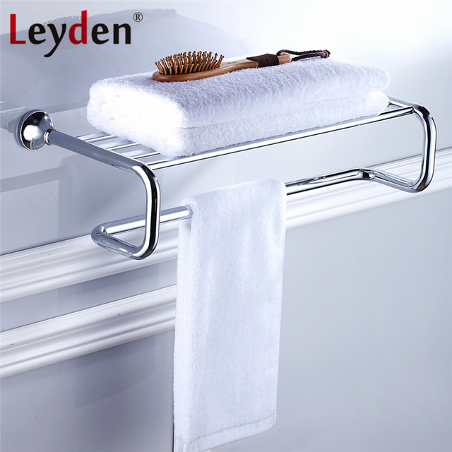 Leyden Bath Towel Rack Shelf ORB/ Antique Brass/ Golden/ Chrome ...