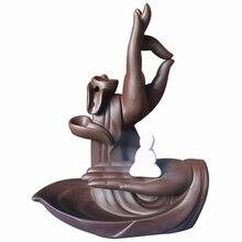 Caliente quemador de incienso con flujo de retorno de cerámica Tathagata o Buda incienso palo de conos de Casa creativa