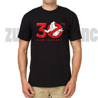 OKOUFEN 30th Anniversary Ghostbuster Black Movie T- shirt men t shirt