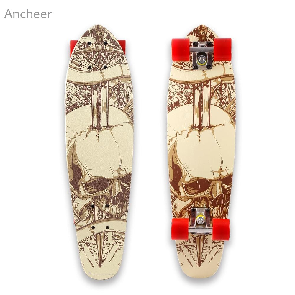 28 Pouce Cruiser Style Planche À Roulettes Complète Extérieur Fun En Bois Pont Skate Board - 3