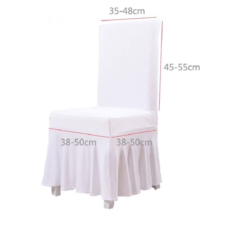 white universal chair covers ikea oak chairs european style black lengthen polyester spandex wedding party banquet venue decor in cover from home