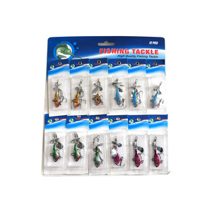 Image 4 - OLOEY 30PCS fishing lure artificial metal spoon silicone wobbler fishing spinner lures deep carp bait diving perch wobbler fish