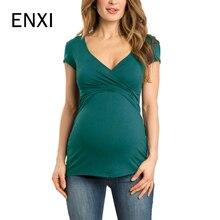 Топы размера плюс с v-образным вырезом и коротким рукавом для беременных, грудного вскармливания, футболки для беременных, одежда для кормления для беременных женщин, футболки для кормления