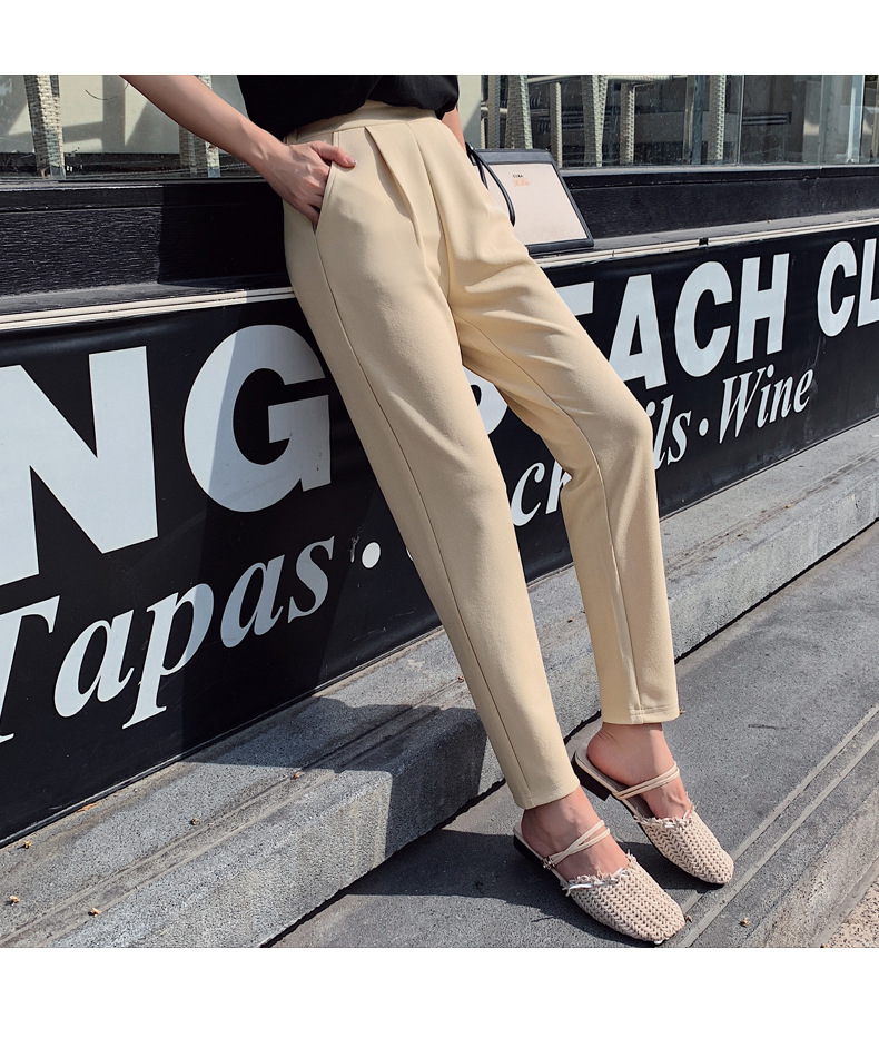 Aselnn Pants Women 2019 Spring Autumn Casual Linen Ankle-length Pants Regular Harem Pants Plus Size Streetwear Trousers Female 14