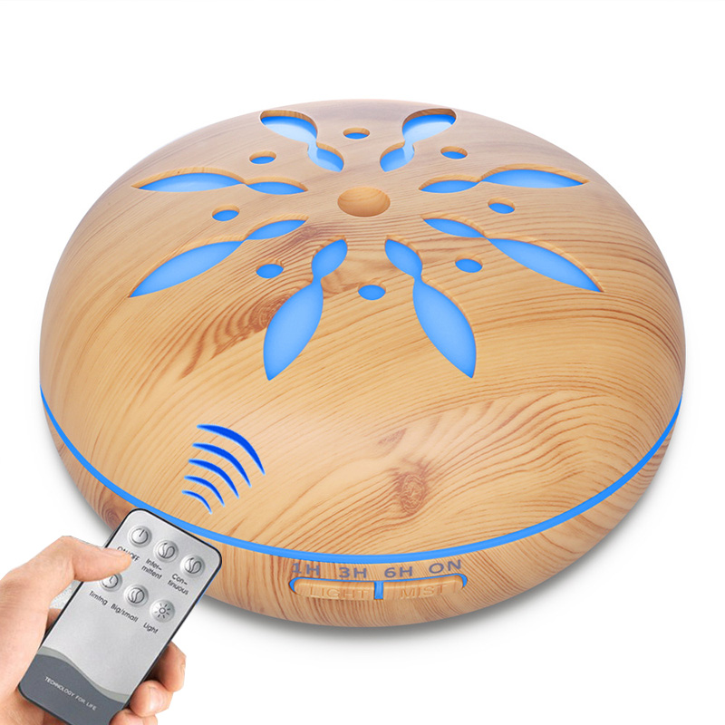 550ml Hot Sale 7 Color Changing LED Light Remote Control Air Humidifier Ultrasonic Aroma Diffuser Essential Oil Aromatherapy hot sale humidifier aromatherapy essential oil 100 240v 100ml water capacity 20 30 square meters ultrasonic 12w 13 13 9 5cm