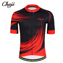 CHEJI Men Summer Cycling Jersey Short Sleeves Downhill MTB Mountain Bike Shirts Bicycle Clothing Pro Team Quick Dry