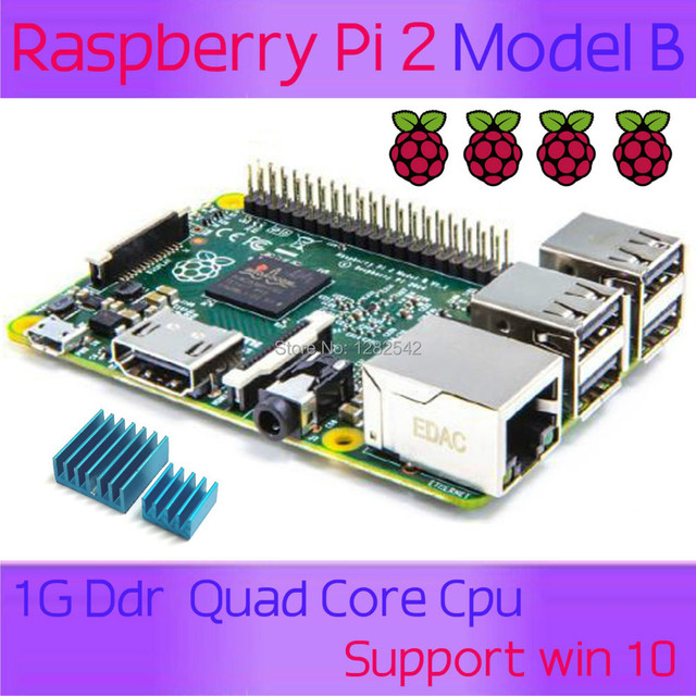 In stock 2015 New&Original Raspberry Pi 2 Model B Broadcom BCM2836 1G RAM 6 times faster than the raspberry PI Model B+ speed