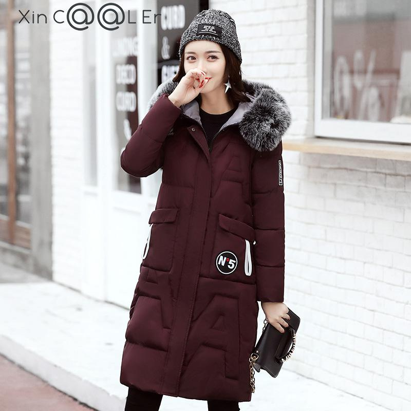 2017 Free Shipping New Autumn Winter Fur Padded Loose Slim Coat Long Women Work Wear Fashion Plus Size Clothes Black Green 2017 free shipping new autumn winter long down big fur coat padded slim women fashion high street coats