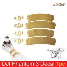 1 шт для Phantom 3 аксессуар Золотой наклейки/Arm Стикеры для DJI Phantom 1/2/3 Универсальный наклейка на жилье Phantom 3 наклейка/Стикеры