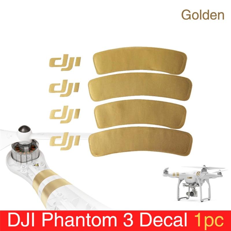 1 Pc Phantom 3 Accessory Golden Decal/Arm Sticker For DJI Phantom 1/2/3 Universal Housing Sticker Phantom 3 Decal/Sticker