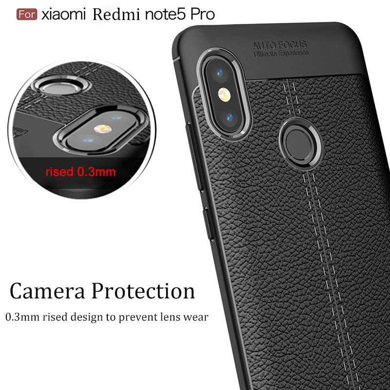 litchi pattern design Silicone Case For Redmi Note 5 Case Soft TPU Back Cover Case For Xiaomi Redmi Note 5 Pro full Case in Fitted Cases from Cellphones Telecommunications