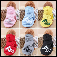 Free Shipping Cotton Pet Clothes Puppy Dog Cat Coat Jacket Hoodie Sweater T-shirt Winter Clothing Apparel For Small Size Dogs