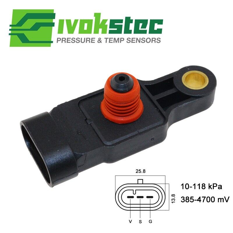 Manifold Absolute Pressure MAP Sensor For Chevrolet Aveo Kalos Matiz Spark NUBIRA LACETTI Daewoo TICO 0.8 1.0 1.2 1.4 96325870 f8cv bare cylinder head for daewoo matiz tico 796cc 0 8l 1998 96316210 96642705 11110 80d00 1111080d00 11110 80d00 m96642708