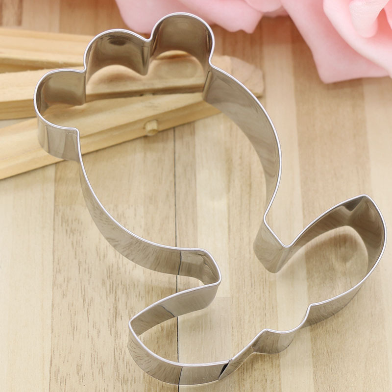 1 PCS High Quality Stainless Steel Cookie Cutter Flower Shape Cake Mould DIY Biscuit Supplies  Creative 3D Home Baking Tool Hot