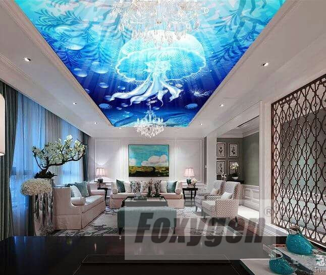 Us 18 0 New Popular Dightal Printing And Uv Printed Suspended Ceiling Flower And 3d Sky Ceiling Design In Wallpapers From Home Improvement On