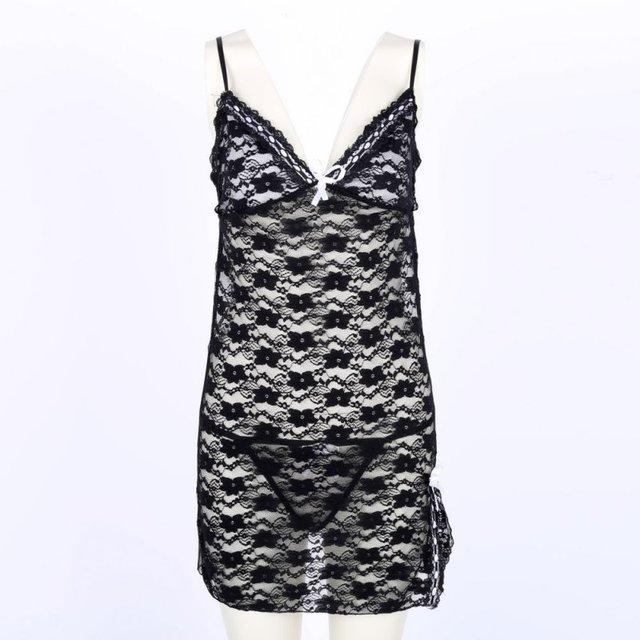 Nightwear Underwear Babydoll Sleepwear G-string Mini Dress