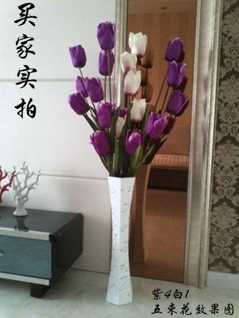 Tall vases sitting room fake flower vase landing 60 cm wooden hexagon wood vases contemporary & Tall vases sitting room fake flower vase landing 60 cm wooden ...