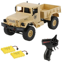 1/16 2.4G 4WD RC Military Car RC Crawler Off Road RC Truck Rock Crawler Car With Two Battery Remote Control Car Gift for Kids