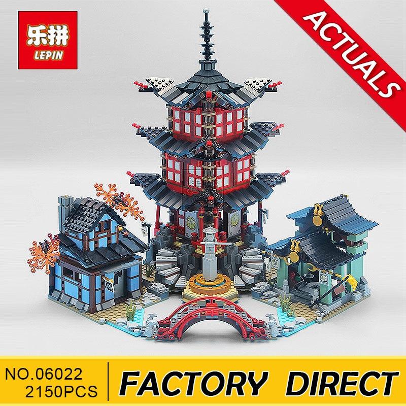 Lepin 06022 blocs Ninja Figure Temple de Airjitzu jouets pour enfants blocs de construction Compatible Ninja 70751