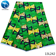 LIULANZHI wax fabrics african real fabric nigerian polyester hot sales pattern 6yards/lot arrival 13L234-13L249