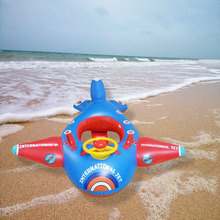 Children swimming circle thicker inflatable steering wheel floating boat baby airplane seatboat life – saving sitting circle