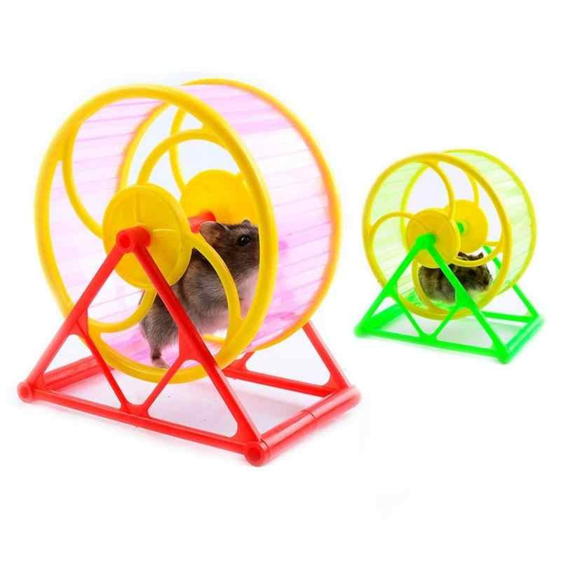 Pet Brinquedo Roda Jogo Com suporte Plástico Hamster Roedor Jogging Exercício de treinamento útil Brinquedo transporte da gota