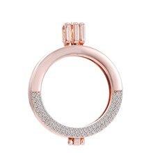 Модные открываемые медальоны DIY кулон DIY ожерелье для женщин модные ювелирные изделия My Coin прозрачный кристалл плавающий медальон(без цепи