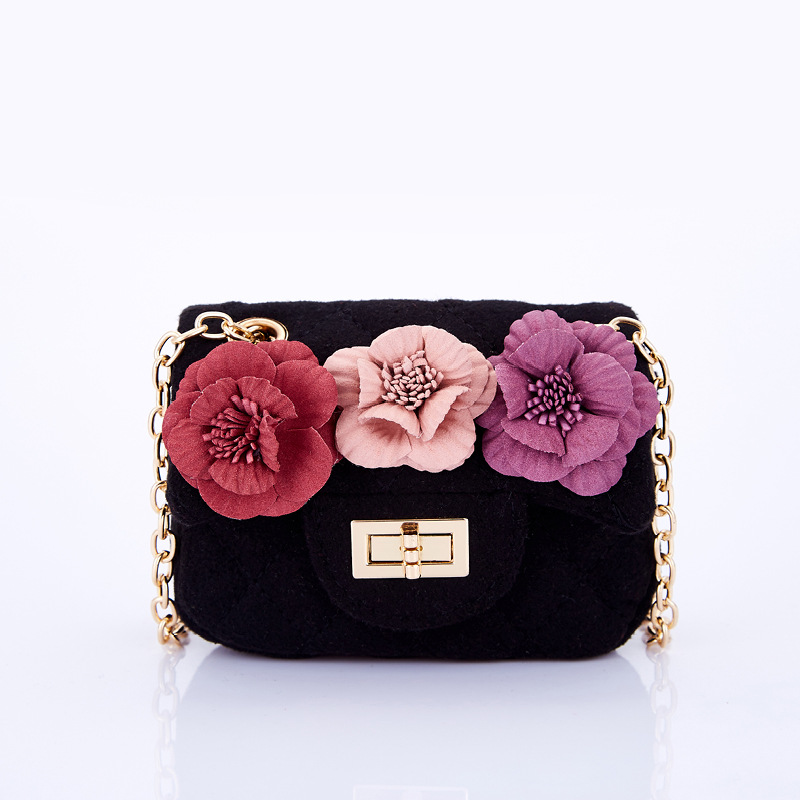 Kids Children Clutch Bag Flowers Cute Girl Princess Mini Cross Body Shoulder Bags for baby girls party satchel bag girls mini messenger bag cute plush cartoon kids baby small coin purses lovely baby children handbags kids shoulder bags bolsa