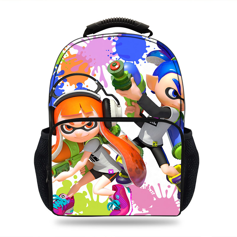 5acc710abf School Bags Large Capacity PC Game Splatoon 2 Printing School Laptop  Backpack for Girls Boys Junior Rucksack Mochila Bagpack