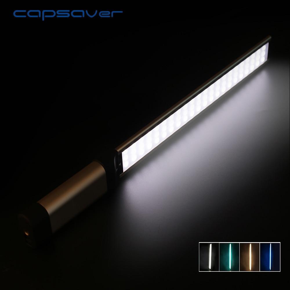 Capsaver LA-L2S De Poche LED Vidéo Lumière Photographie Éclairage 5500 k 66 LED CRI 90 Caméra Studio Photo Lampe pour Youtube tir