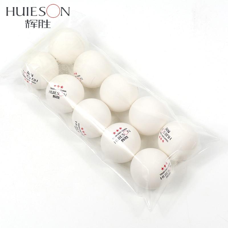 Huieson 10pcs New Material Training Table Tennis Balls ABS Plastic Ping Pong Balls Table Training Balls 40+mm 2.8g 3 Star