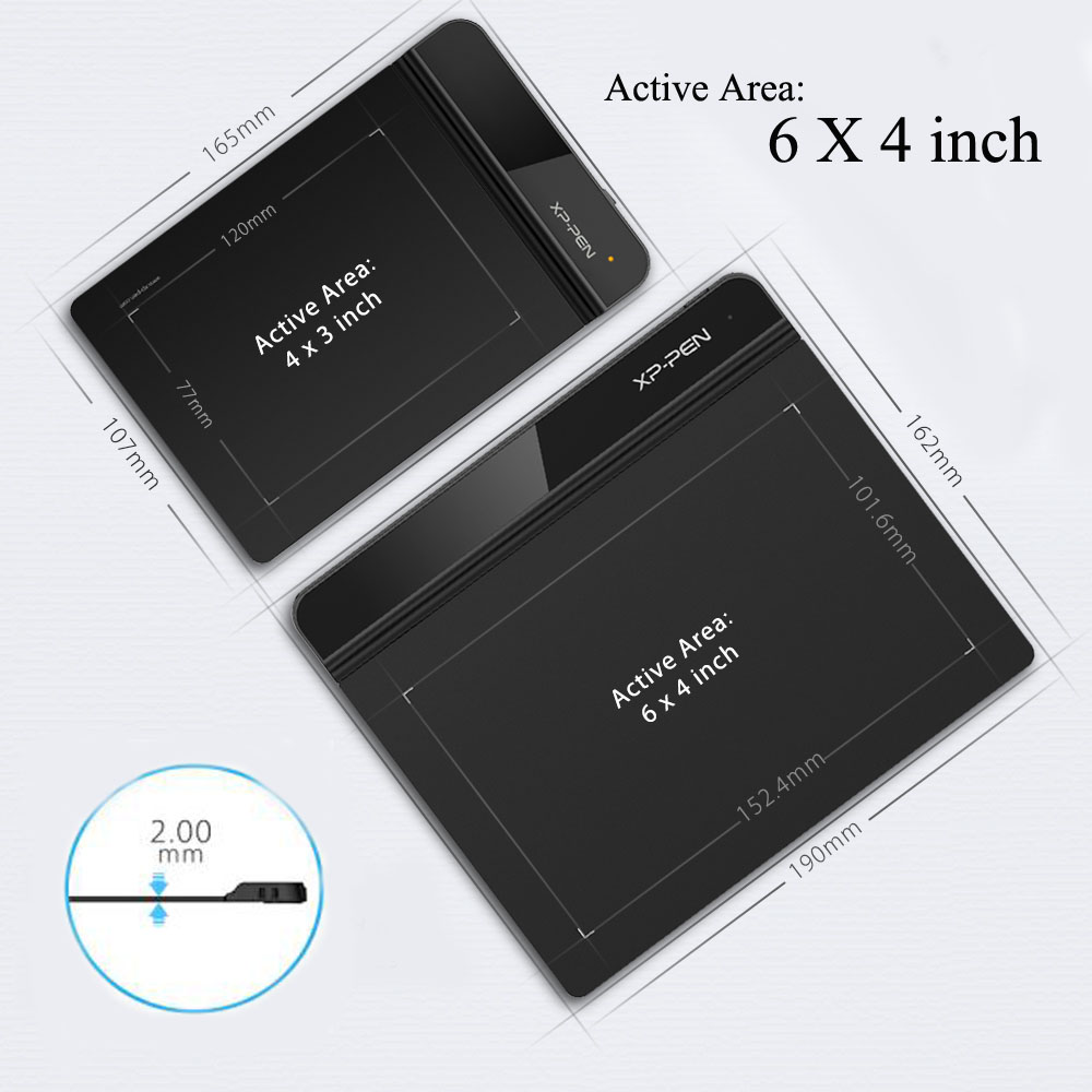 XP-PEN G640 Tableta Gráfica 6 x 4 Pulgadas Nivel de Presion 8192 para OSU! con Lápiz sin Batería - 4