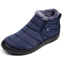 Мужские ботинки; Водонепроницаемая зимняя обувь; мужские теплые зимние ботинки; botas hombre; повседневные ботильоны для влюбленных; мужские ботинки; Размеры 35-46