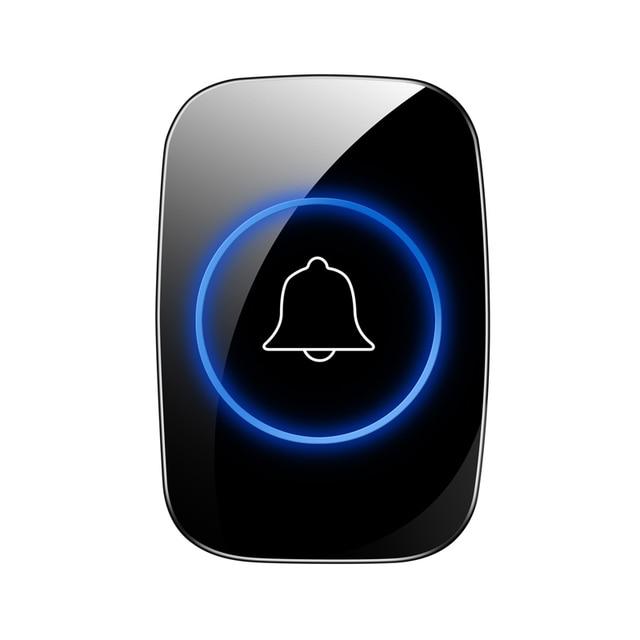 New Home Welcome Doorbell  Intelligent Wireless Doorbell Waterproof 300M Remote EU AU UK US Plug smart Door Bell Chime 2
