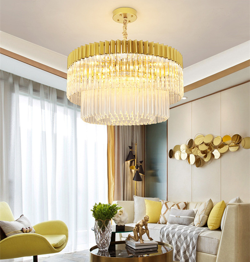 American living room dining room crystal chandelier creative personality modern minimalist light luxury postmodern designer lamp