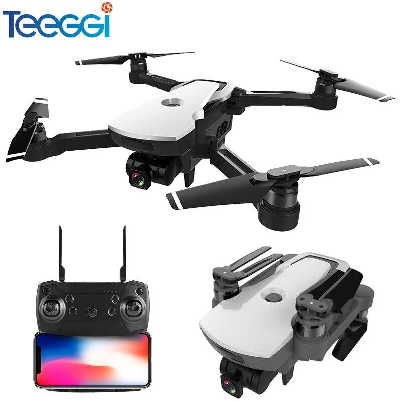 Teeggi CG006 Drone avec Caméra 1080 p Large-angle 5g Wifi FPV GPS Positionnement Suivez-moi Maintien D'altitude RC Quadcopter Dron RTF Enfants